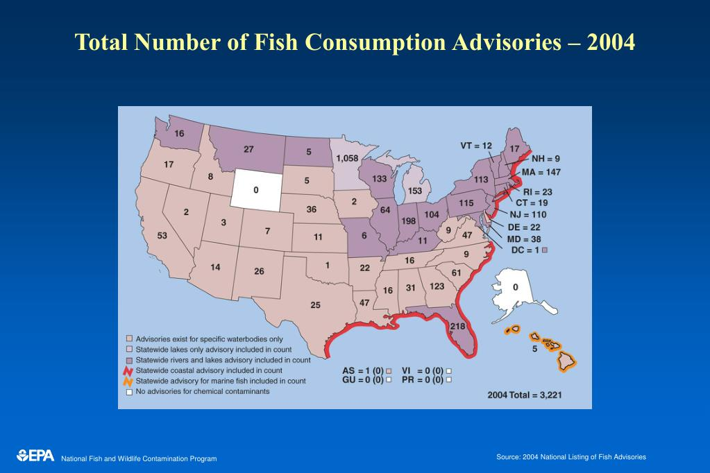 Total Number of Fish Consumption Advisories – 2004