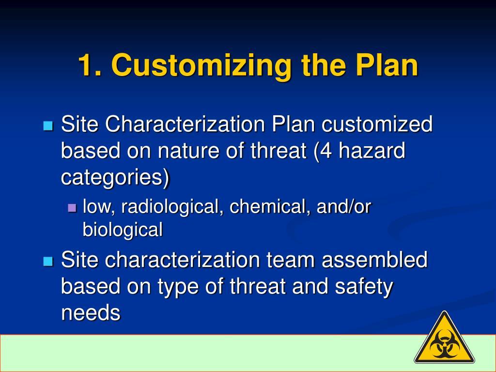 1. Customizing the Plan