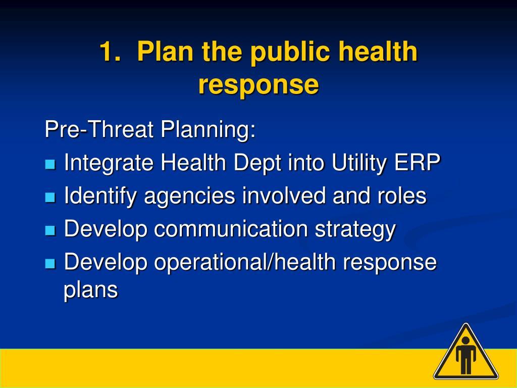 1.  Plan the public health response