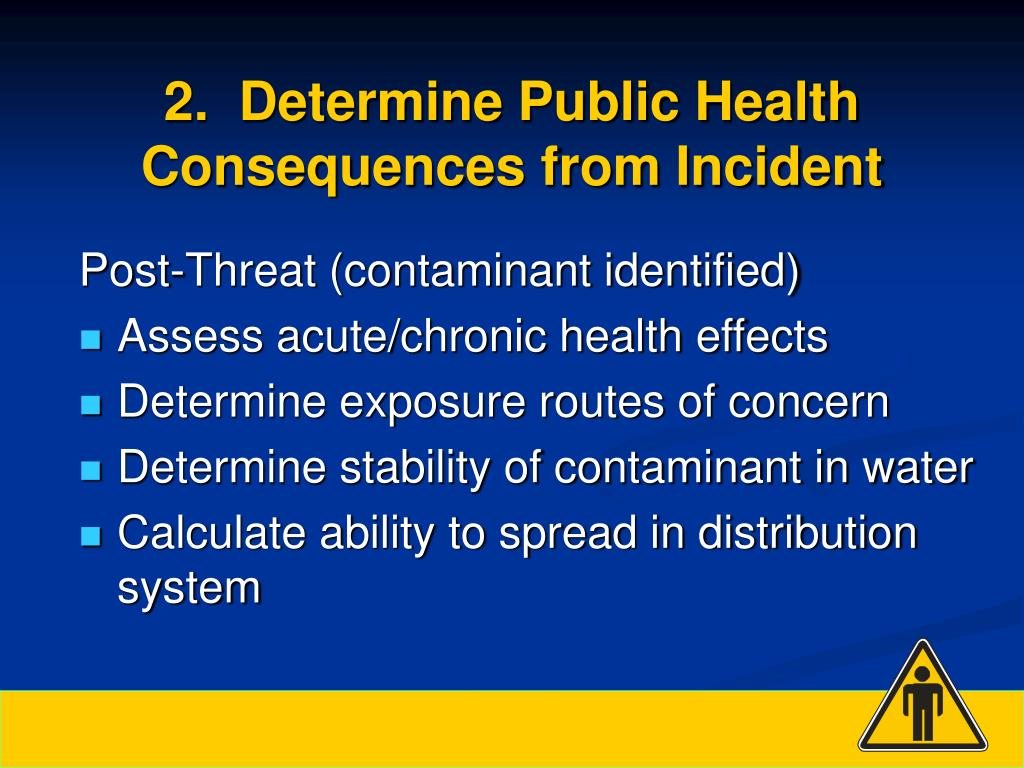 2.  Determine Public Health Consequences from Incident