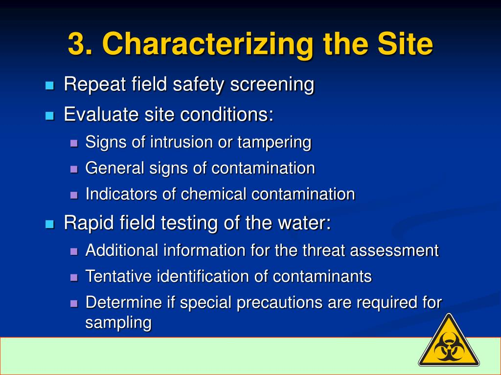 3. Characterizing the Site