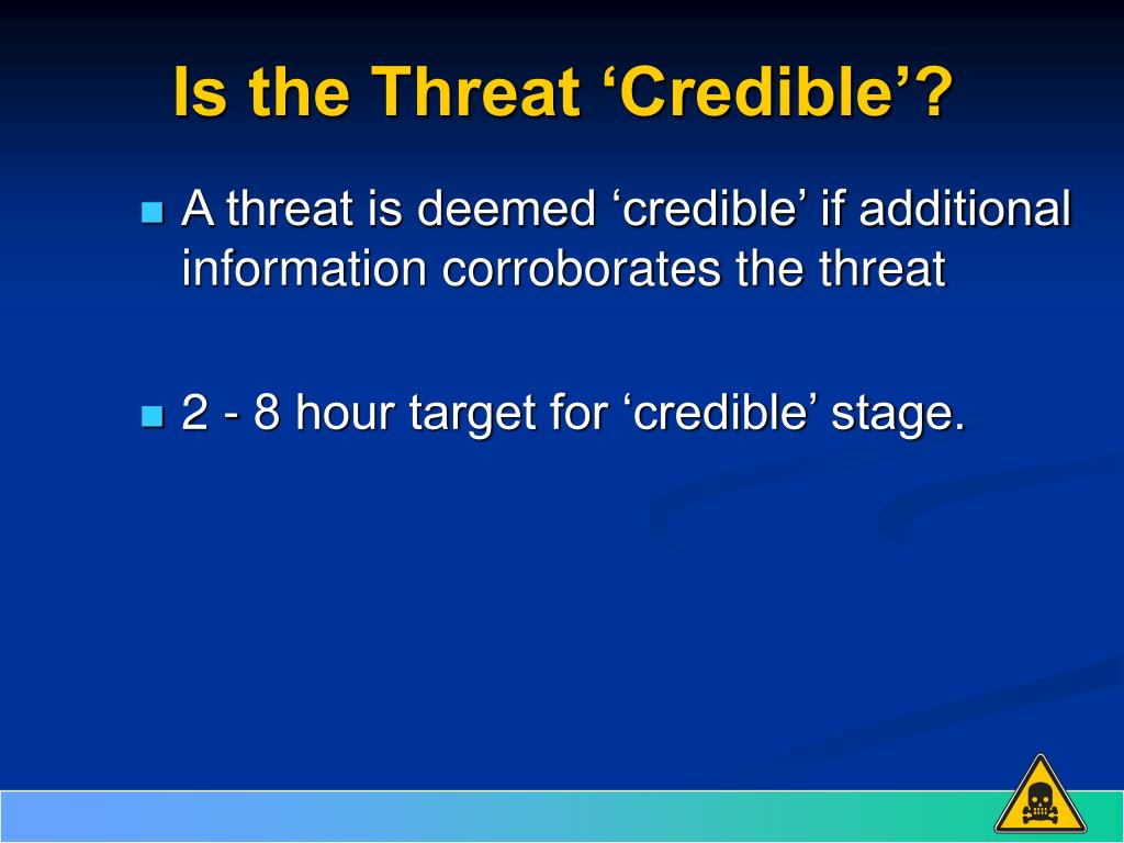 Is the Threat 'Credible'?