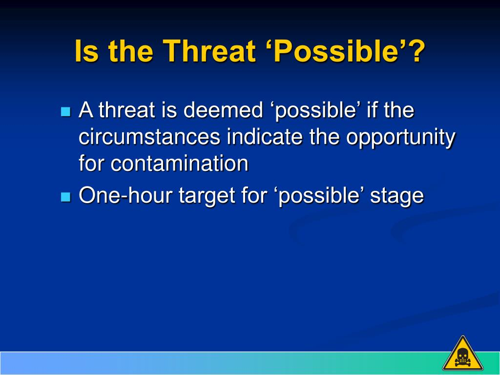 Is the Threat 'Possible'?