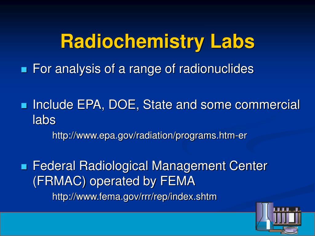 Radiochemistry Labs