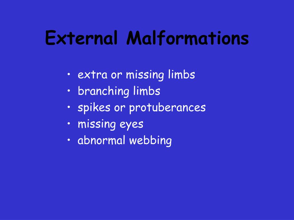 External Malformations