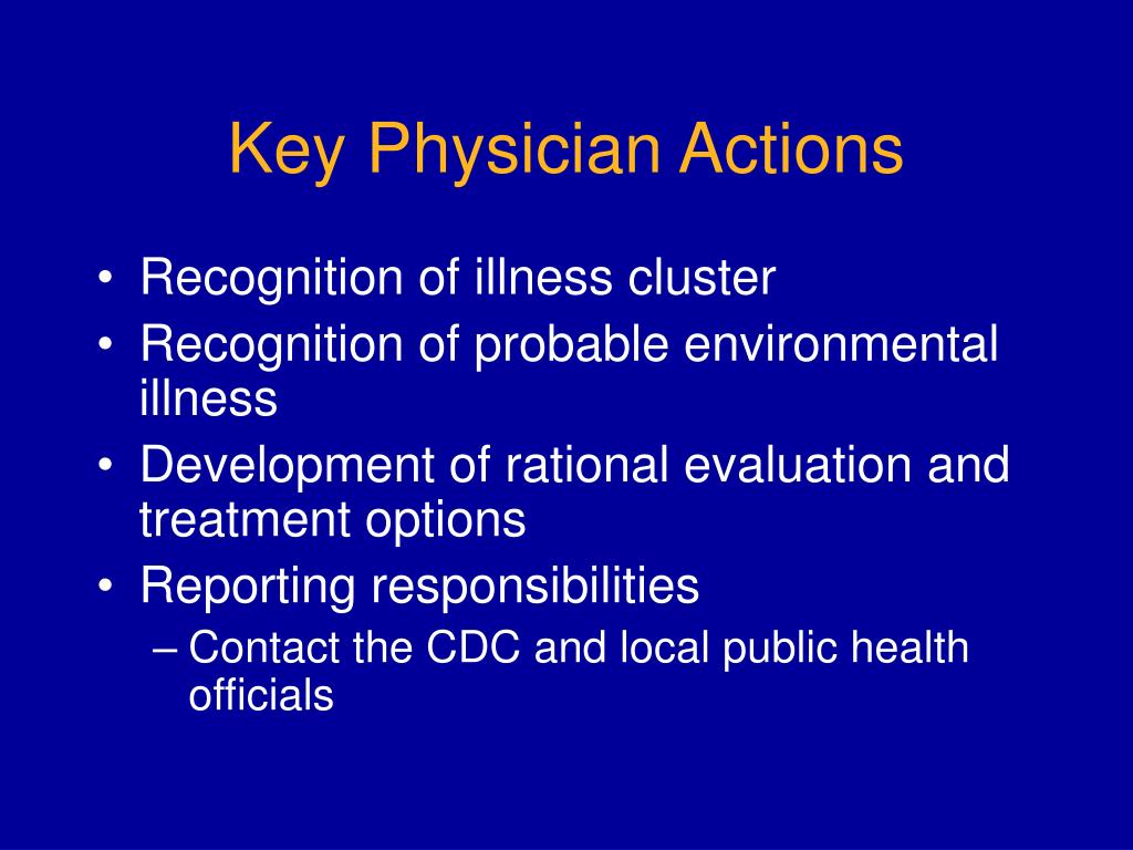 Key Physician Actions
