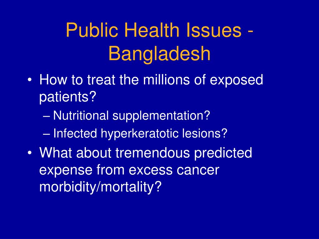 Public Health Issues - Bangladesh