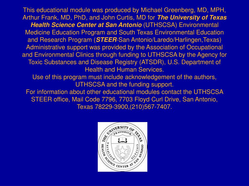 This educational module was produced by Michael Greenberg, MD, MPH, Arthur Frank, MD, PhD, and John Curtis, MD for
