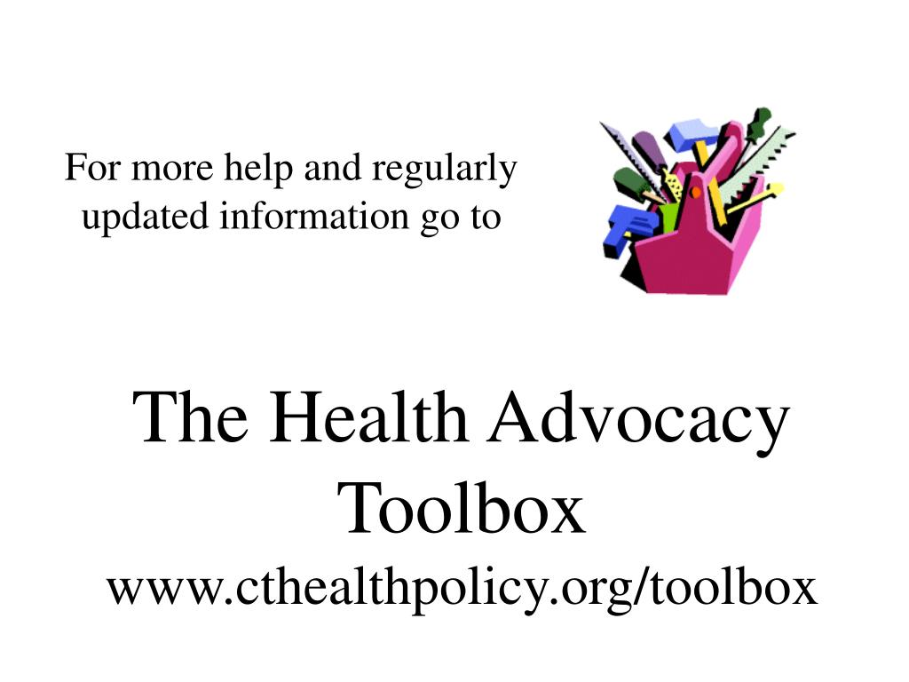 The Health Advocacy Toolbox