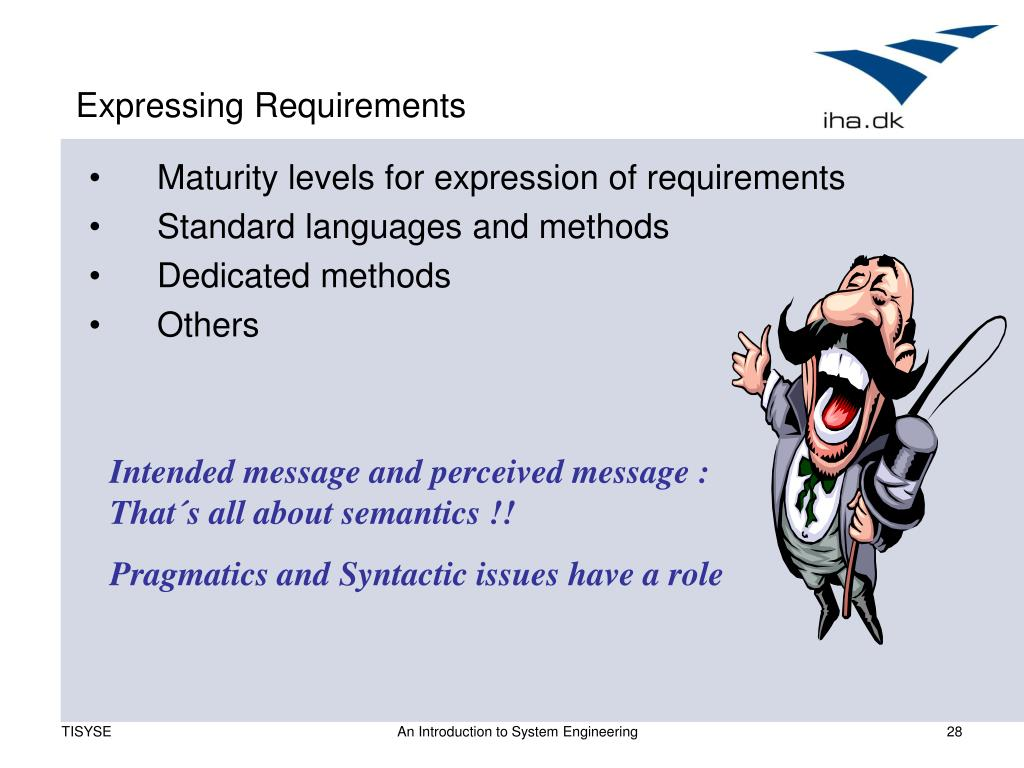 Expressing Requirements