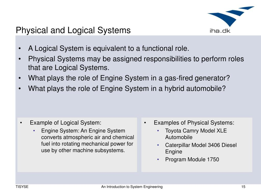 Physical and Logical Systems