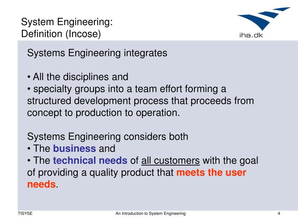 System Engineering:
