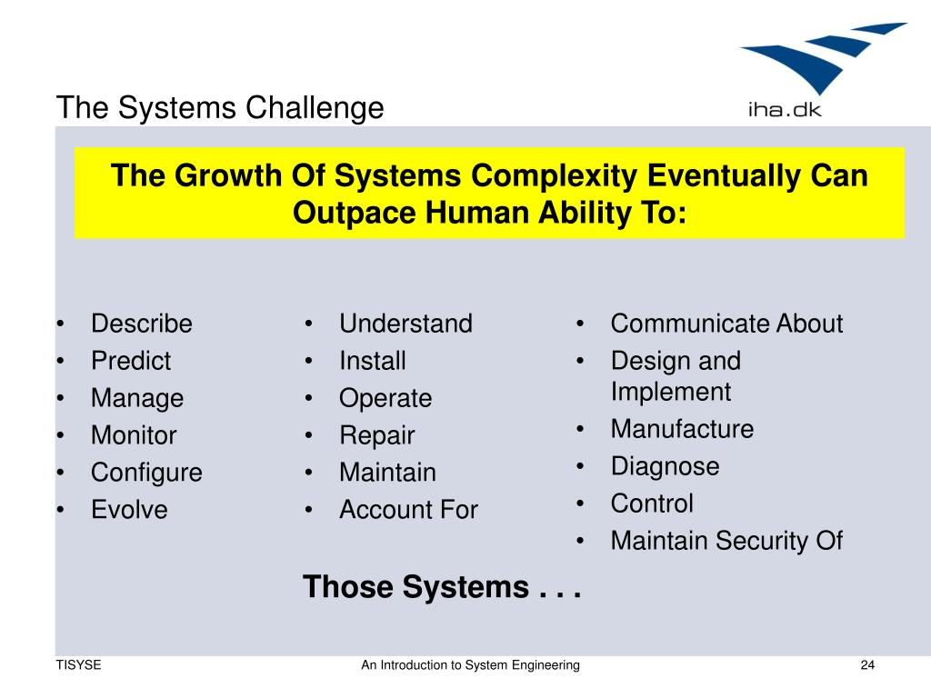 The Systems Challenge