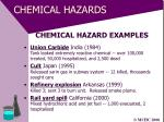 chemical hazards41