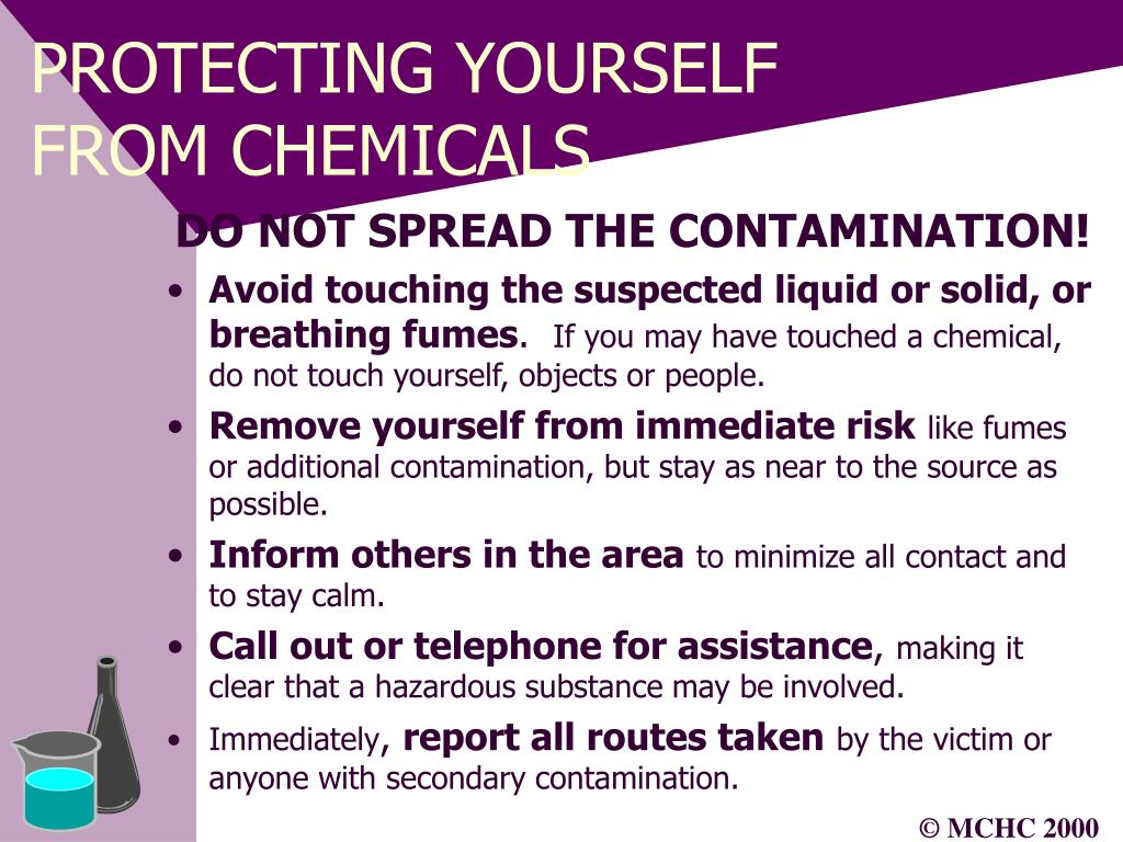 PROTECTING YOURSELF FROM CHEMICALS