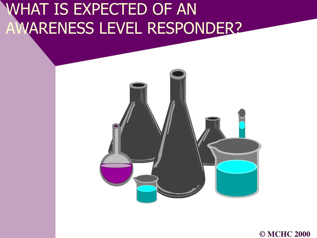 WHAT IS EXPECTED OF AN AWARENESS LEVEL RESPONDER?