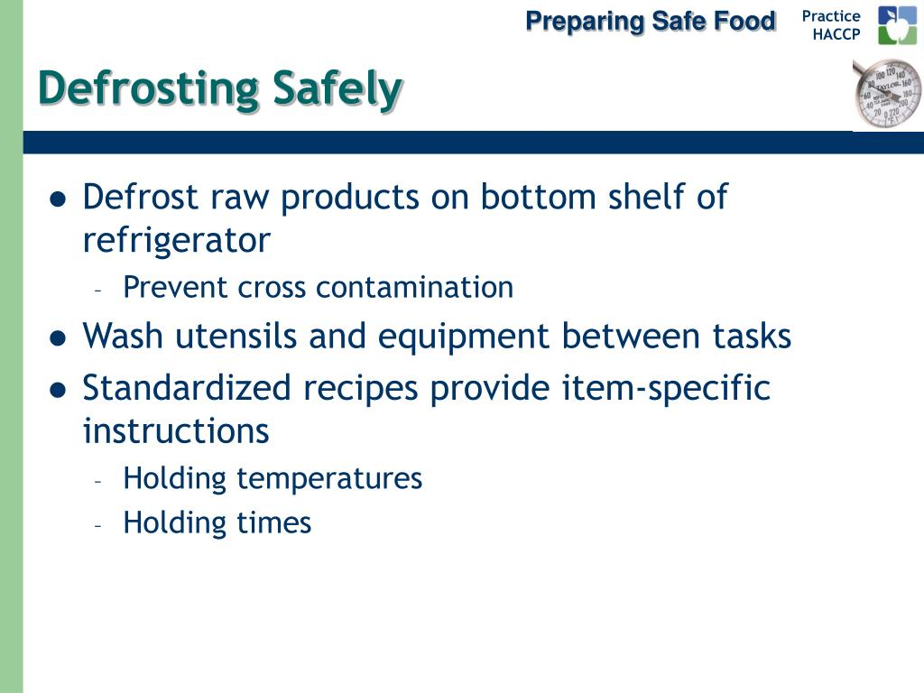 Preparing Safe Food