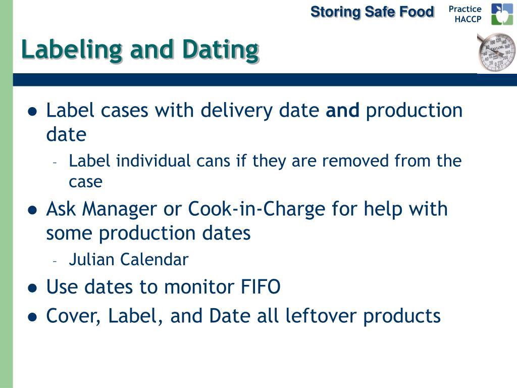 Storing Safe Food