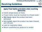 receiving guidelines