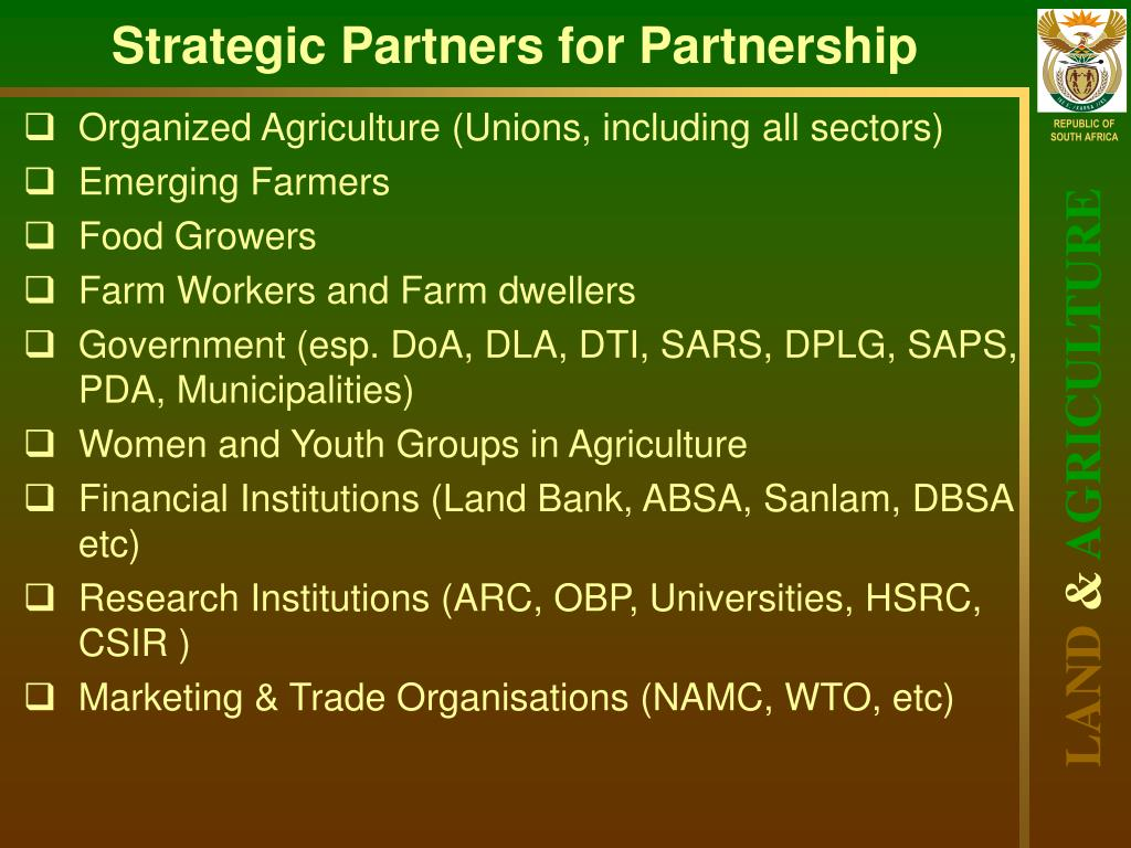 Strategic Partners for Partnership