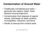 contamination of ground water