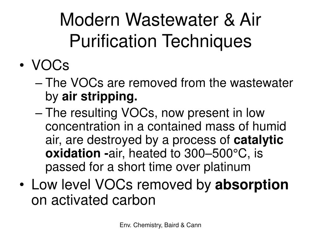 Modern Wastewater & Air Purification Techniques