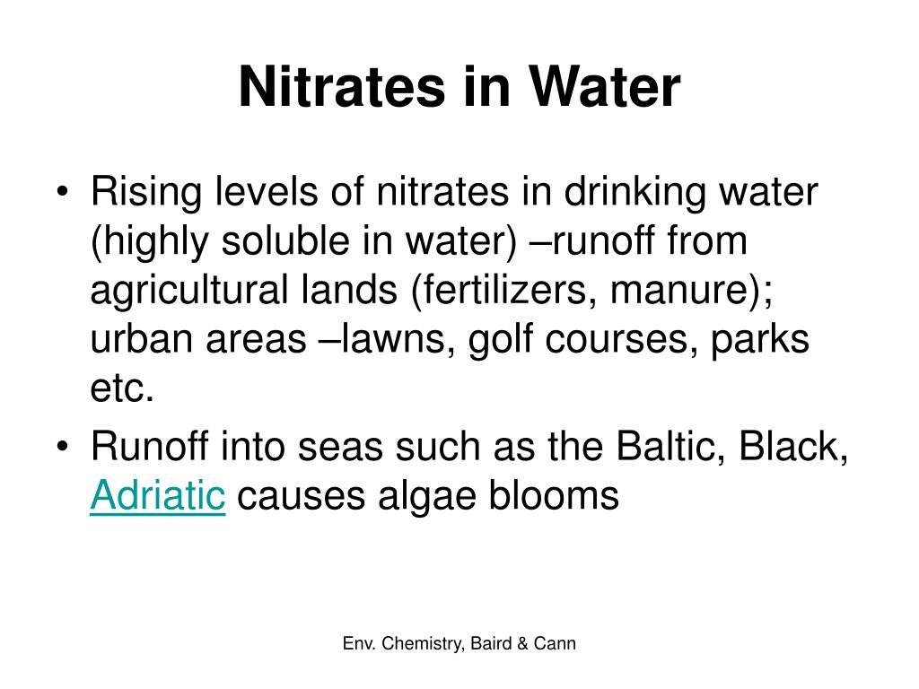 Nitrates in Water