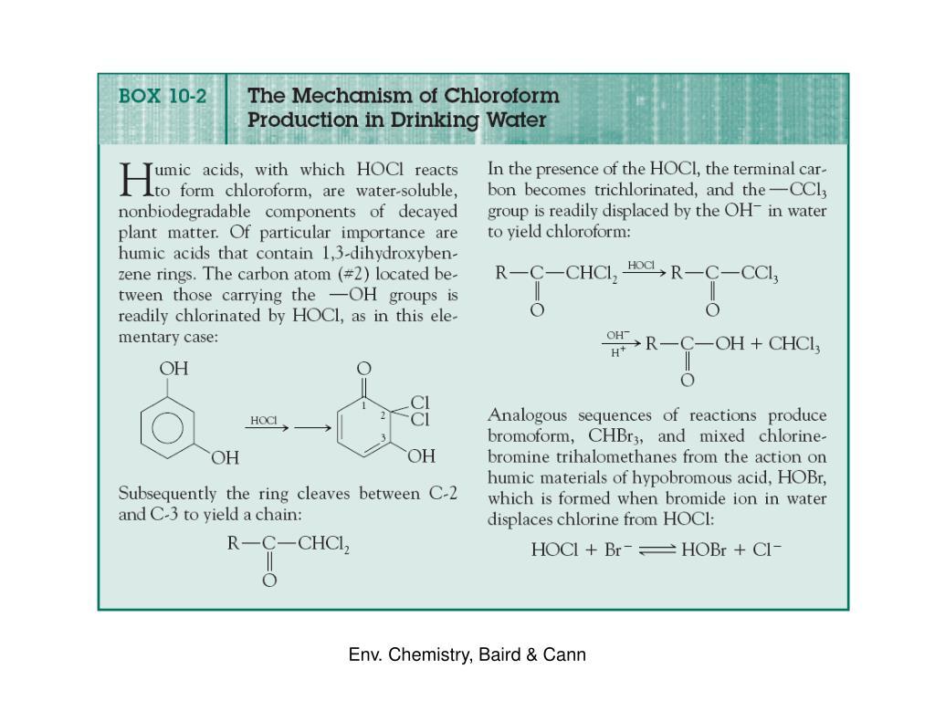 Env. Chemistry, Baird & Cann