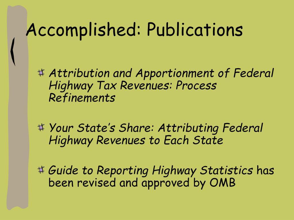 Accomplished: Publications