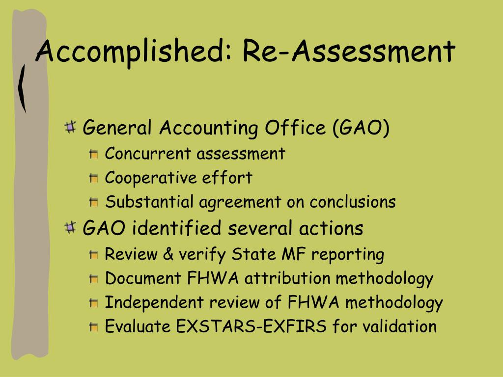 Accomplished: Re-Assessment