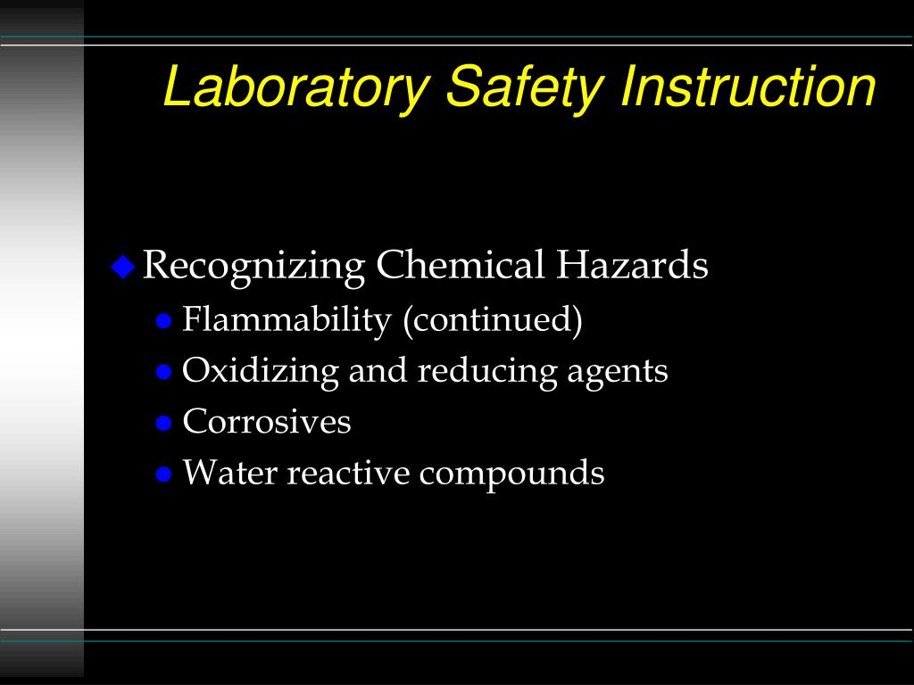 Laboratory Safety Instruction