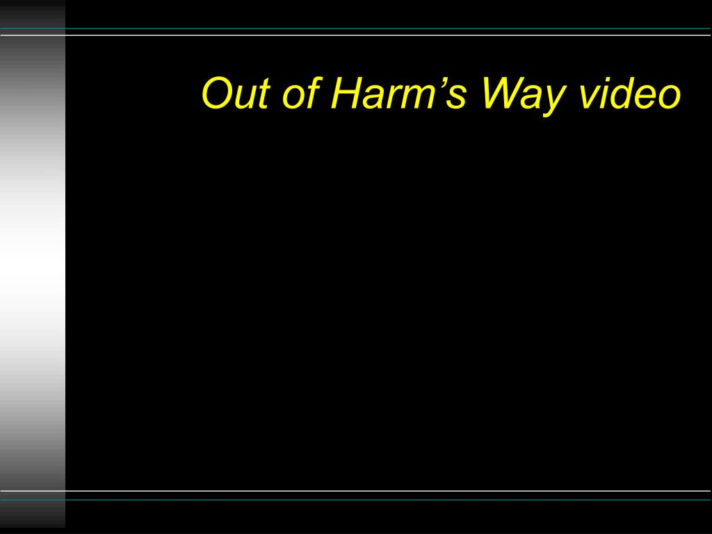 Out of Harm's Way video