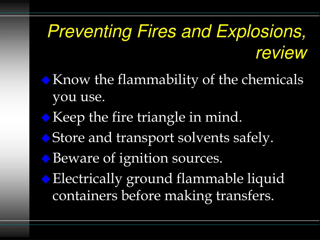Preventing Fires and Explosions, review