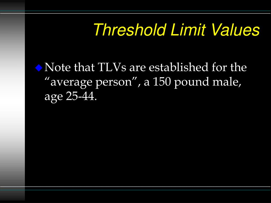 Threshold Limit Values