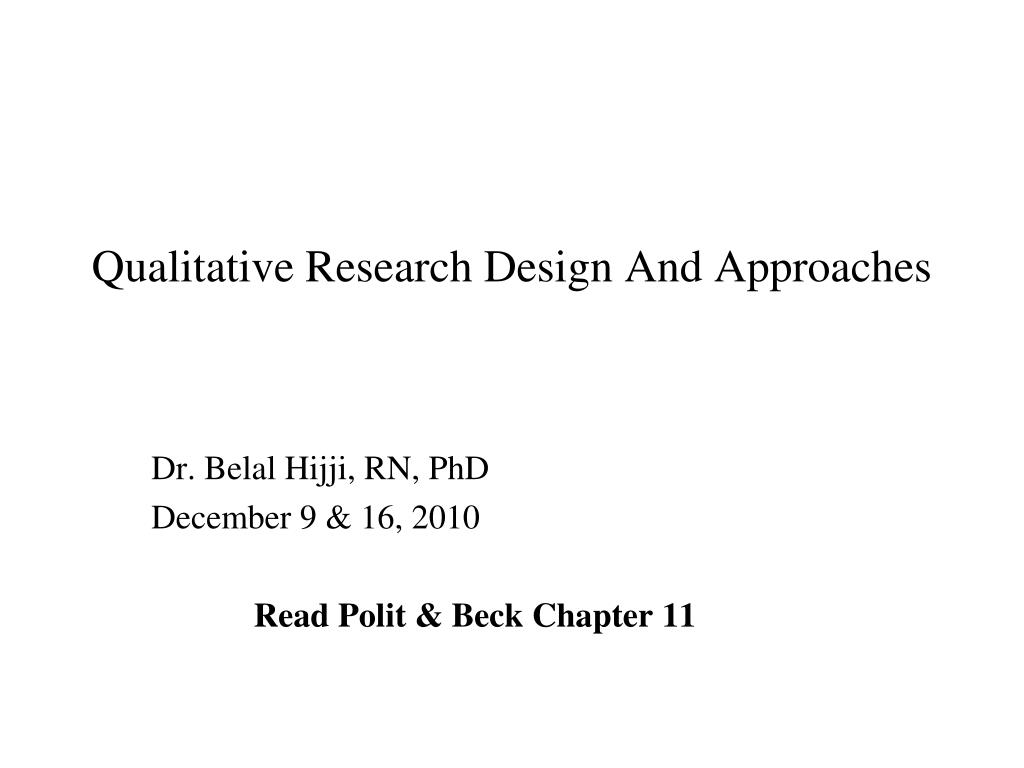 research approach and design