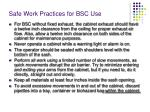 safe work practices for bsc use14