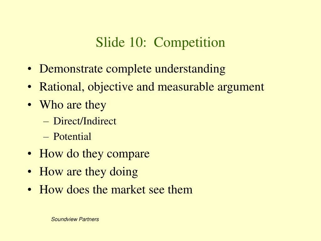 Slide 10:  Competition