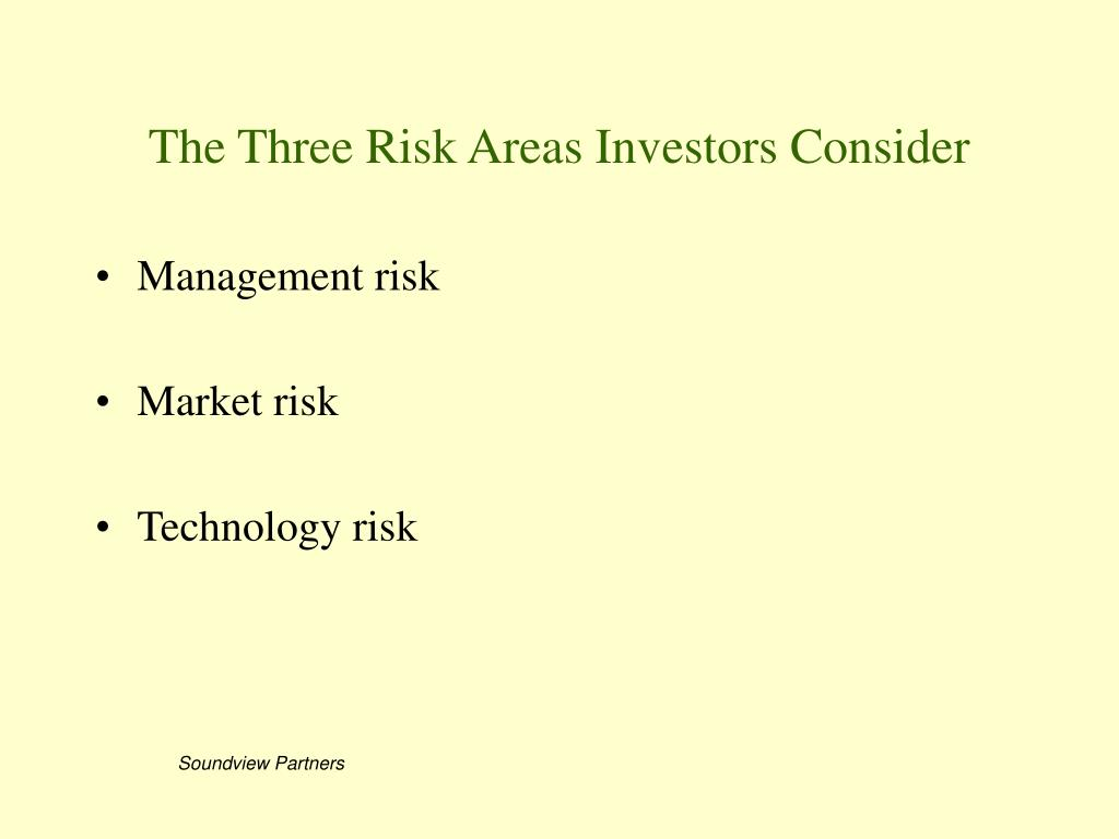The Three Risk Areas Investors Consider