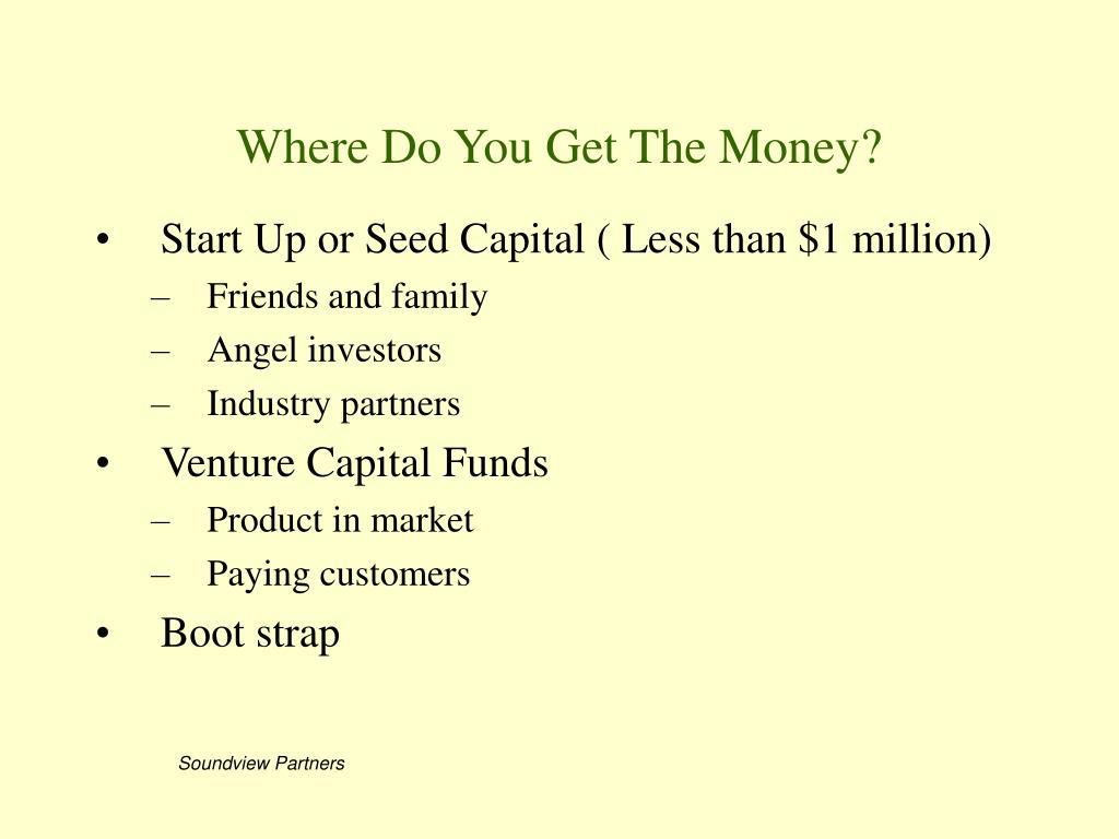Where Do You Get The Money?