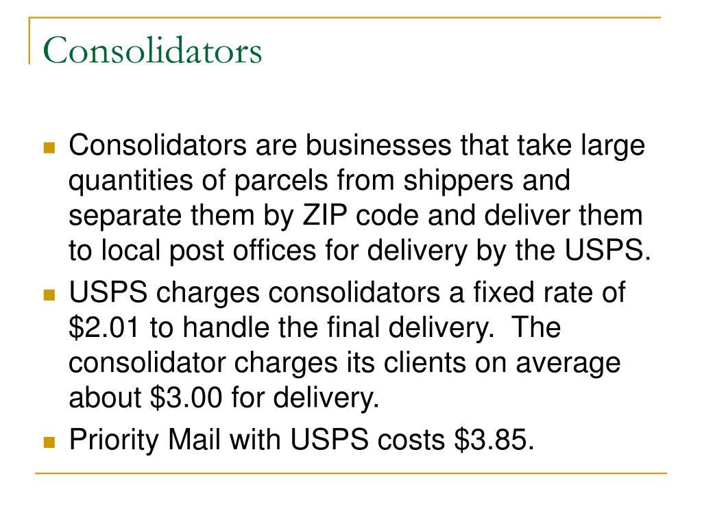 Consolidators