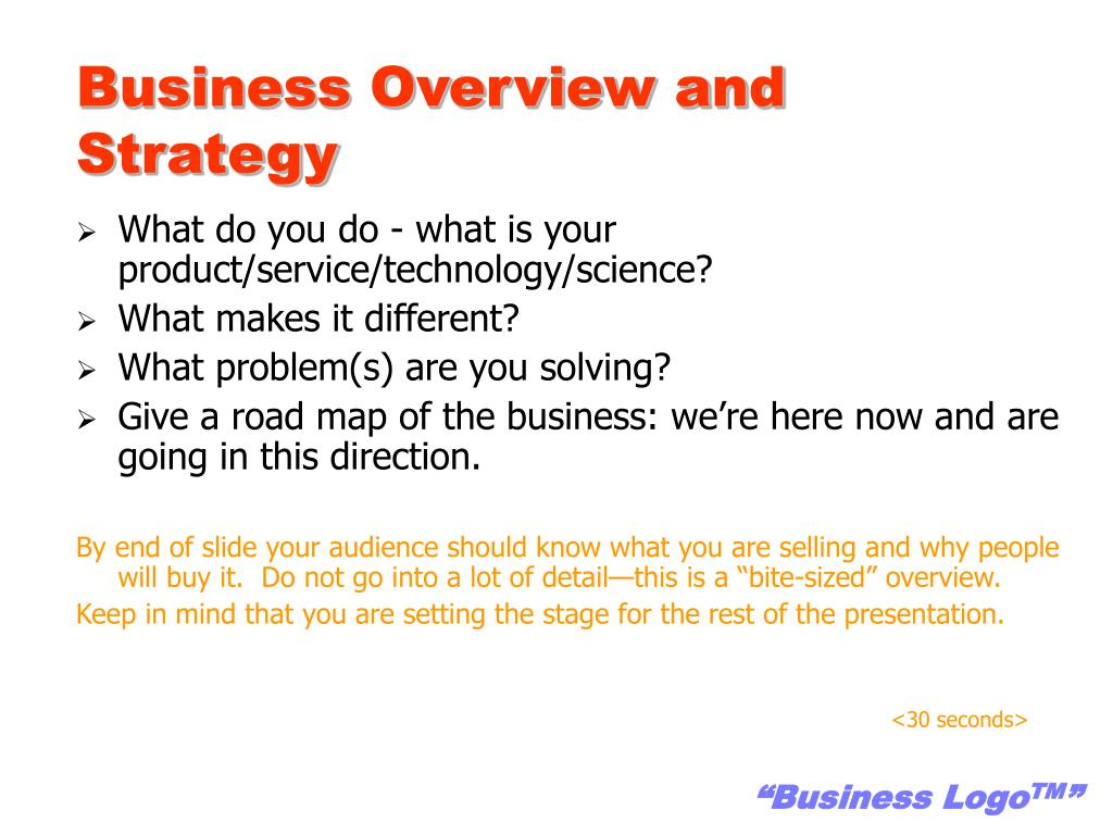 Business Overview and Strategy