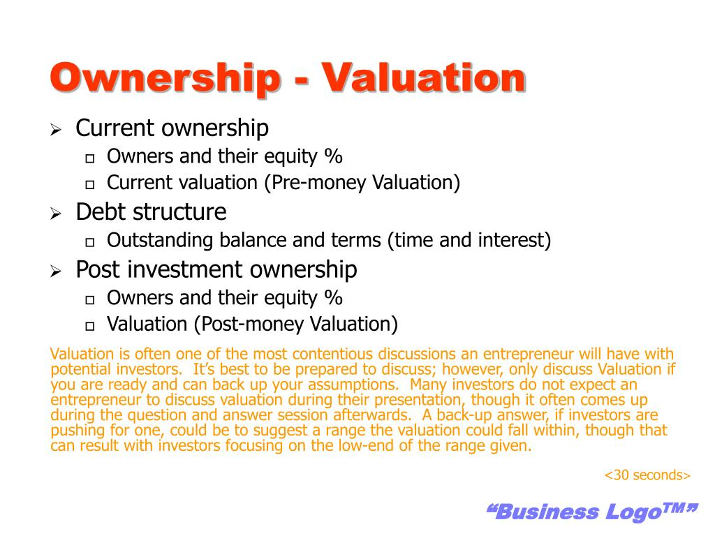 Ownership - Valuation