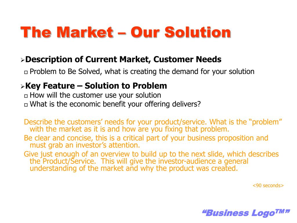 The Market – Our Solution