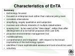 characteristics of enta