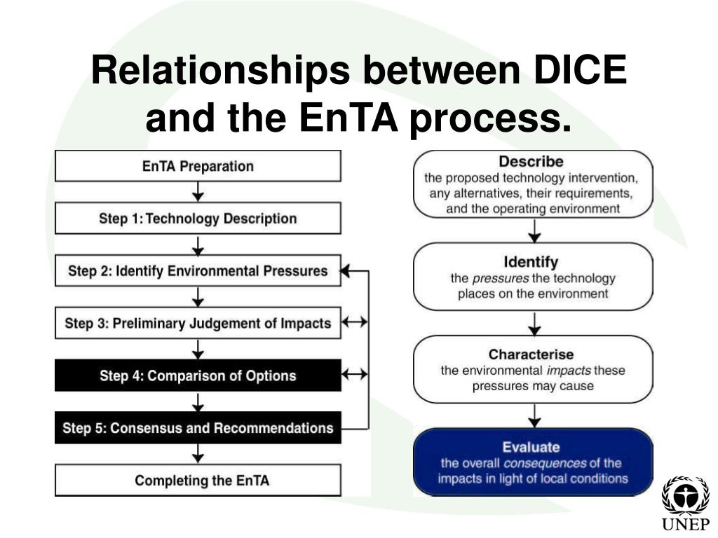 Relationships between DICE and the EnTA process.
