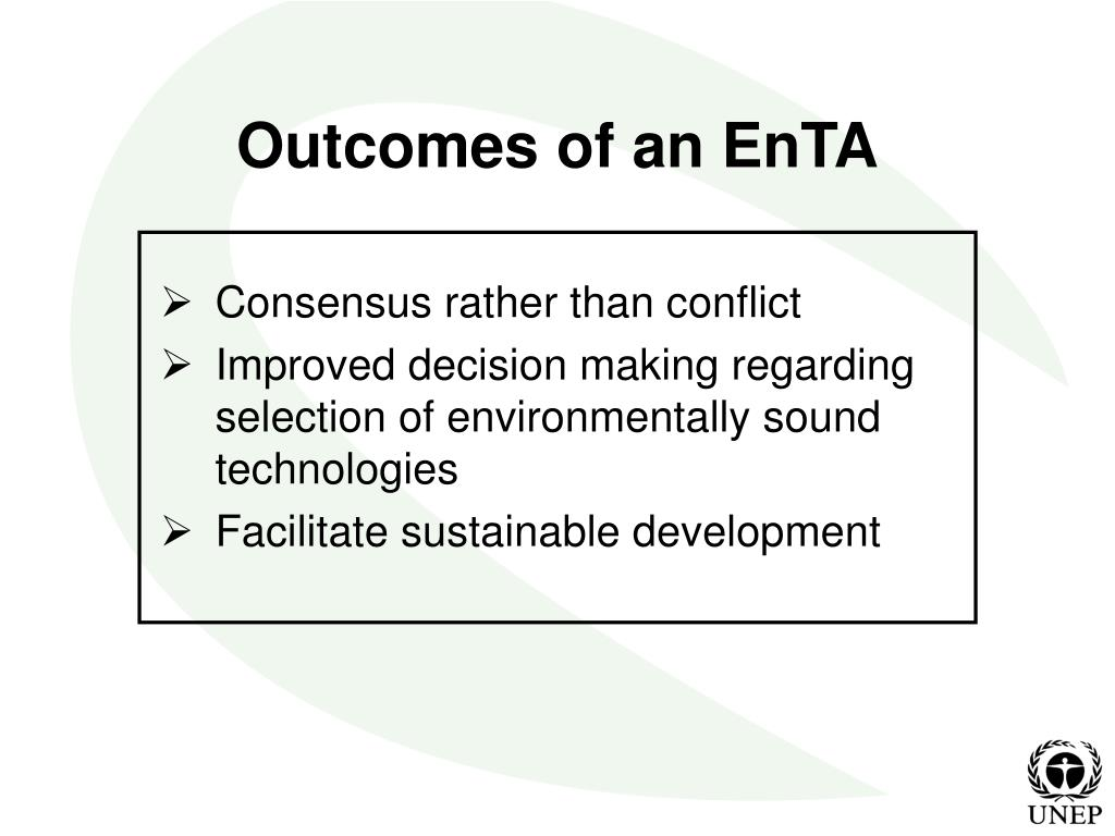 Outcomes of an EnTA