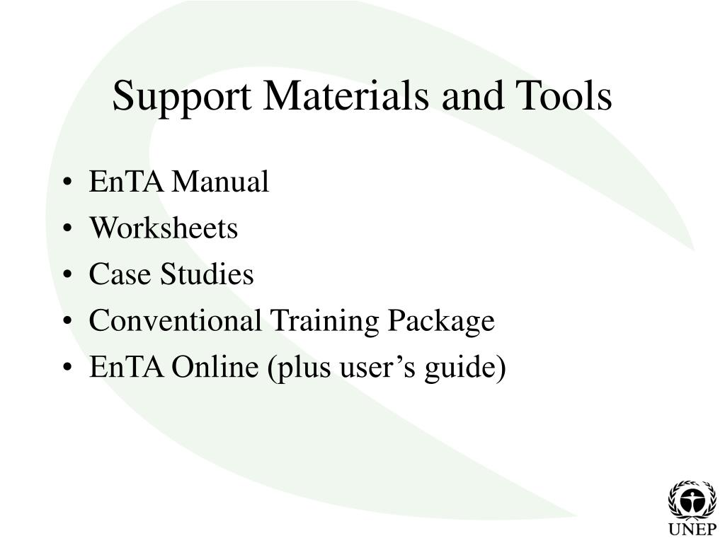 Support Materials and Tools