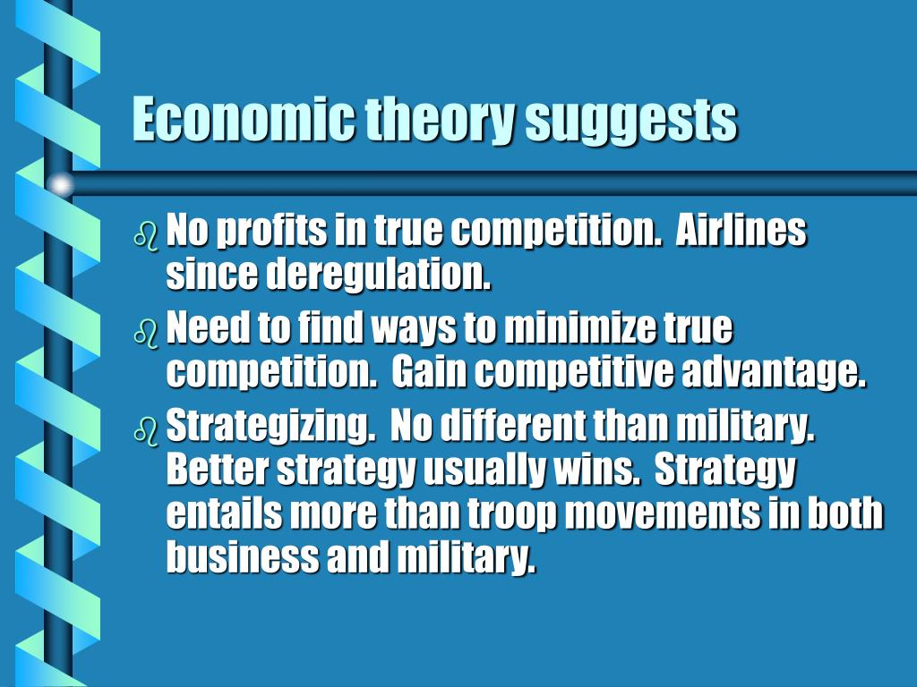 Economic theory suggests
