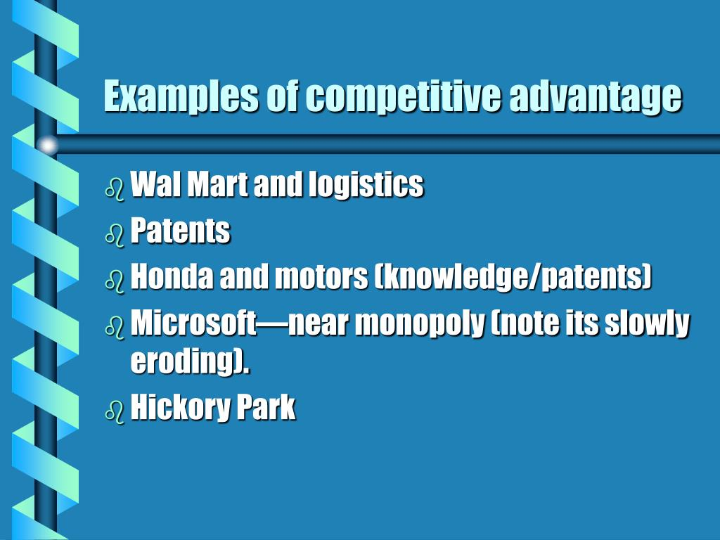 Examples of competitive advantage