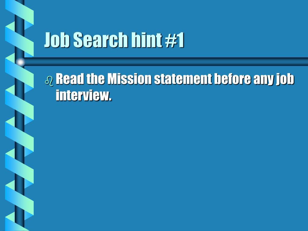 Job Search hint #1